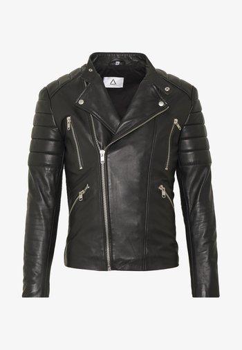 GLADIATOR - Leather jacket - black