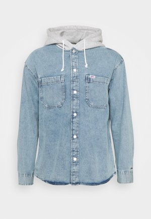 HOODIE OVERSHIRT - Shirt - denim light