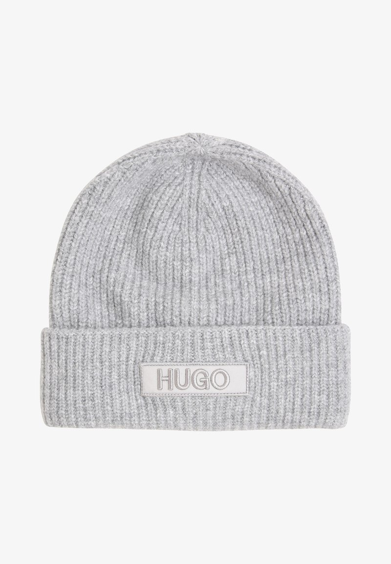HUGO - Beanie - hellgrau