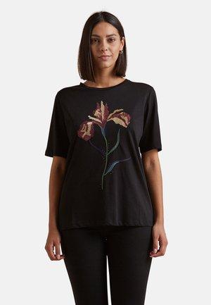 T-SHIRT CON STAMPA - Print T-shirt - nero