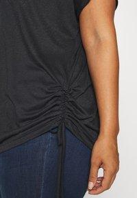 ONLY Play - ONPJIVAN CURVED V NECK BURNOUT CURVY - Print T-shirt - blue graphite - 4