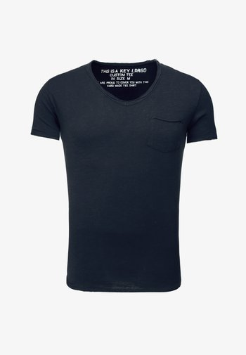 MT WATER - Basic T-shirt - navy