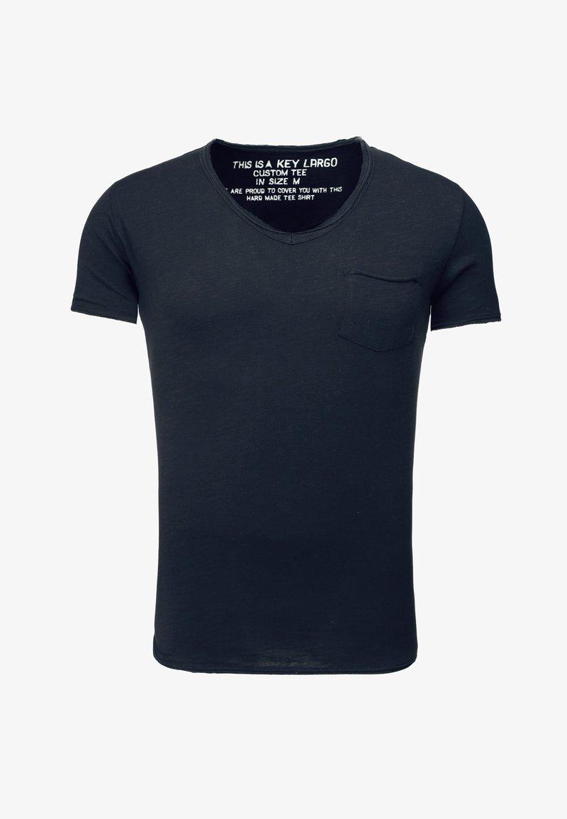 Key Largo - MT WATER - Basic T-shirt - navy
