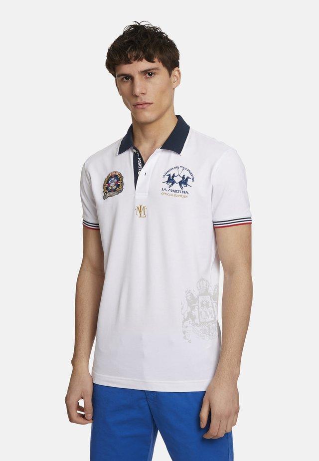 PANDURA - Koszulka polo - optic white