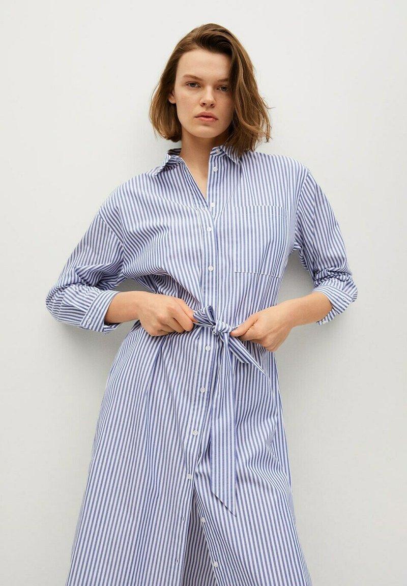 Mango - Shirt dress - azul