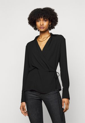BLUSA INCROCIATA - Blouse - nero