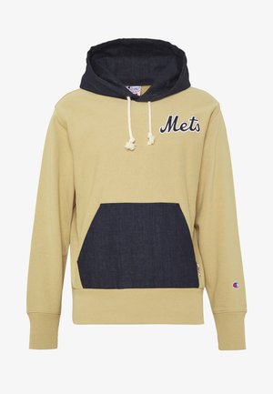 MLB NEW YORK YANKEES HOODED - Felpa con cappuccio - beige/dark blue