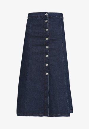 BUTTON THROUGH SKIRT - A-line skirt - blue denim