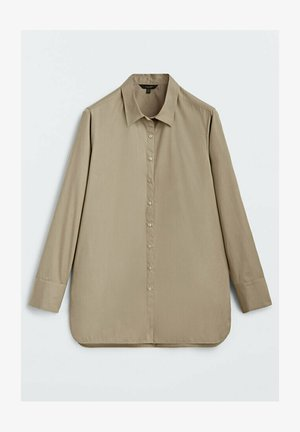 Button-down blouse - nude