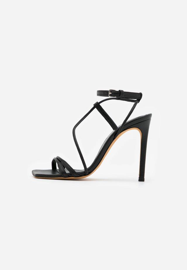 TAAL - Sandalen met hoge hak - black