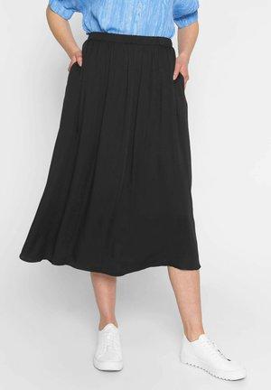 AVIAJA - A-line skirt - black