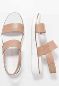 Cole Haan - ZEROGRAND GLOBAL DOUBLE BAND - Platform sandals - amphora/optic white - 3
