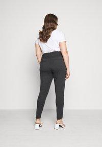Kaffe Curve - KCJIA PANTS - Pantalon classique - dark grey ange - 2