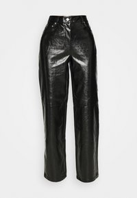 NA-KD - VINYL PANTS - Kalhoty - black - 5