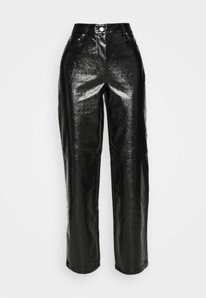 VINYL PANTS - Trousers - black