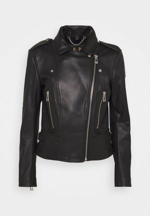 NEW MARVINGT JACKET - Leather jacket - black