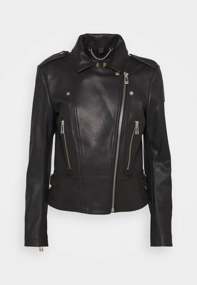 NEW MARVINGT JACKET - Veste en cuir - black