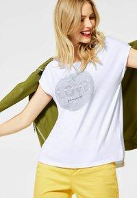 Street One - Print T-shirt - weiß - 0
