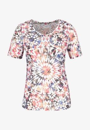 Camiseta estampada - rot/orange/blau multicolor