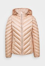 SHORT PACKABLE PUFFER - Down jacket - powder blush