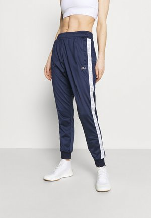JACOBA TAPED TRACK PANTS - Tracksuit bottoms - black iris