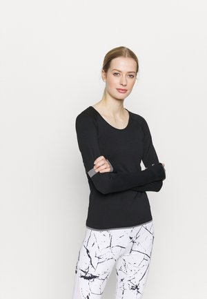 Topper langermet - black