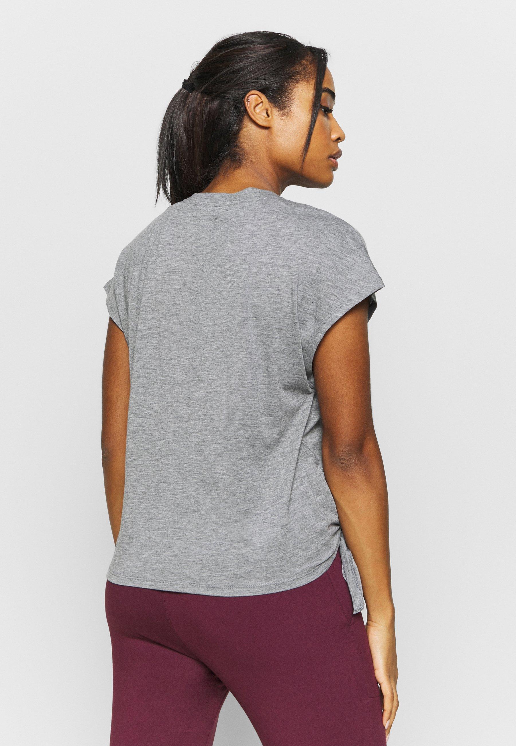 Nike Performance DRY TIE - Basic T-shirt - carbon heather/metallic silver UB6vt