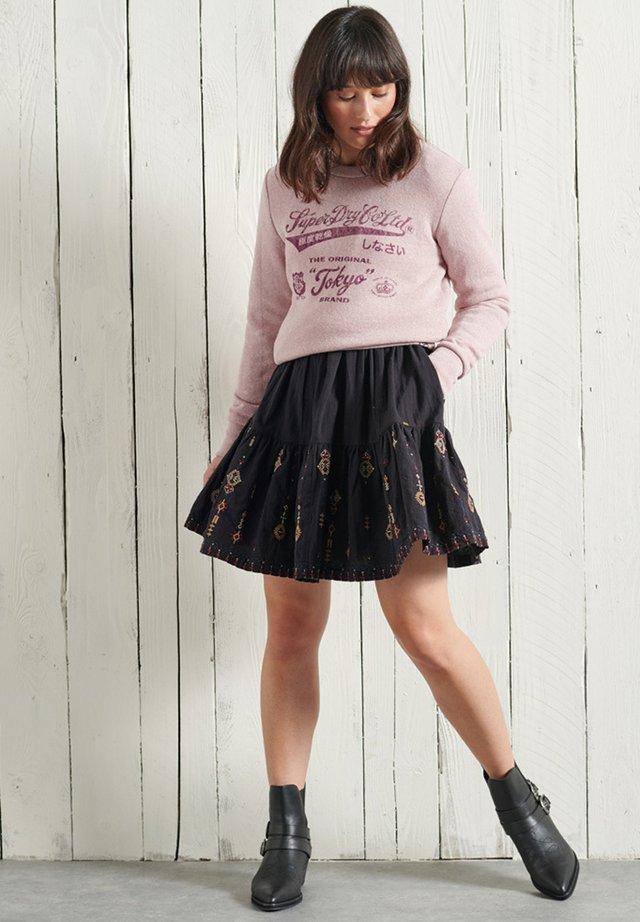 Sweatshirt - sandy pink snowy