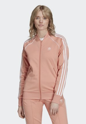 Felpa con zip - pink