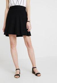 Esprit - BASIC SKIRT - A-line skirt - black - 0
