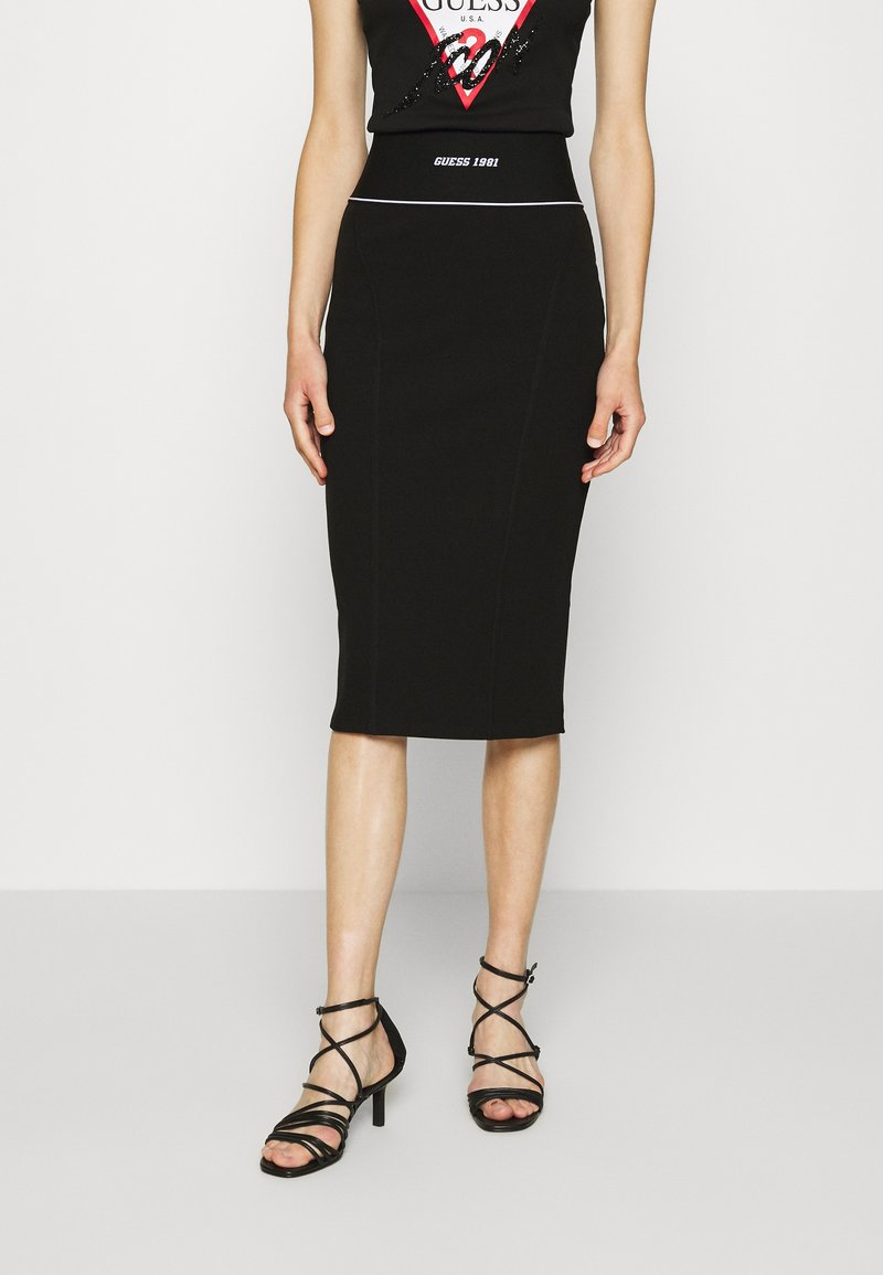 Guess - KAYLA SKIRT - Pencil skirt - jet black