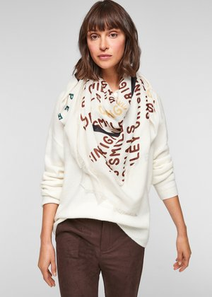 TUCH MIT PRINT - Sjaal - offwhite placed print