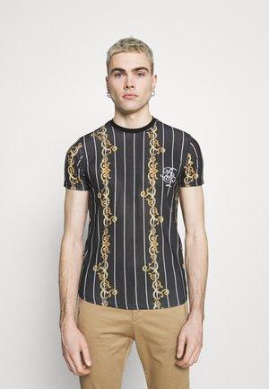 CALOR - T-shirt con stampa - jet black/multicolour