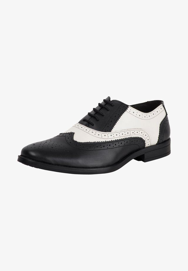 Smart lace-ups - black/white