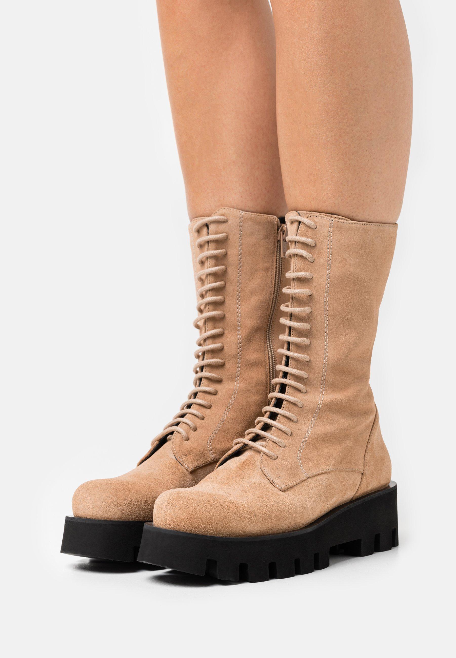 Women EXCLUSIVE AKAP - Lace-up boots - nocciola