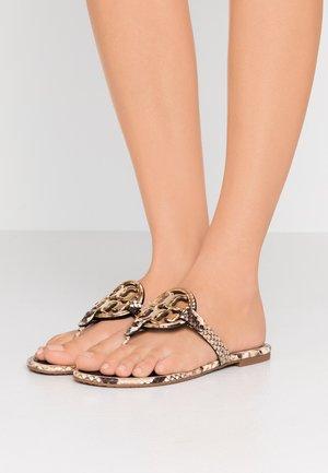 METAL MILLER - T-bar sandals - desertroccia/gold