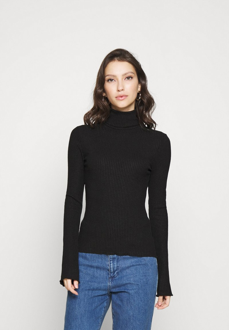 Nly by Nelly - CHUNKY TOP - Jumper - offblack