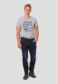 MARCUS - Straight leg jeans - twilight blue used - 1