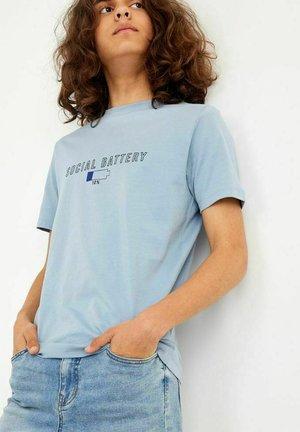 Print T-shirt - ashley blue
