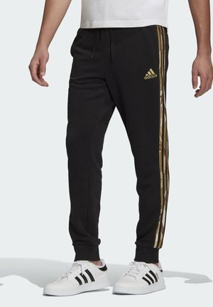 CAMOUFLAGE PT ESSENTIALS SPORTS REGULAR PANTS - Pantalones deportivos - black