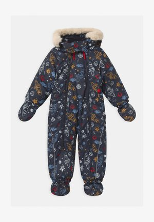 DETACHABLE HOOD - Snowsuit - blue/azzurro/nugget/red