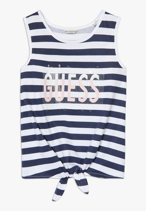 STRIPES - Top - white and blue strip