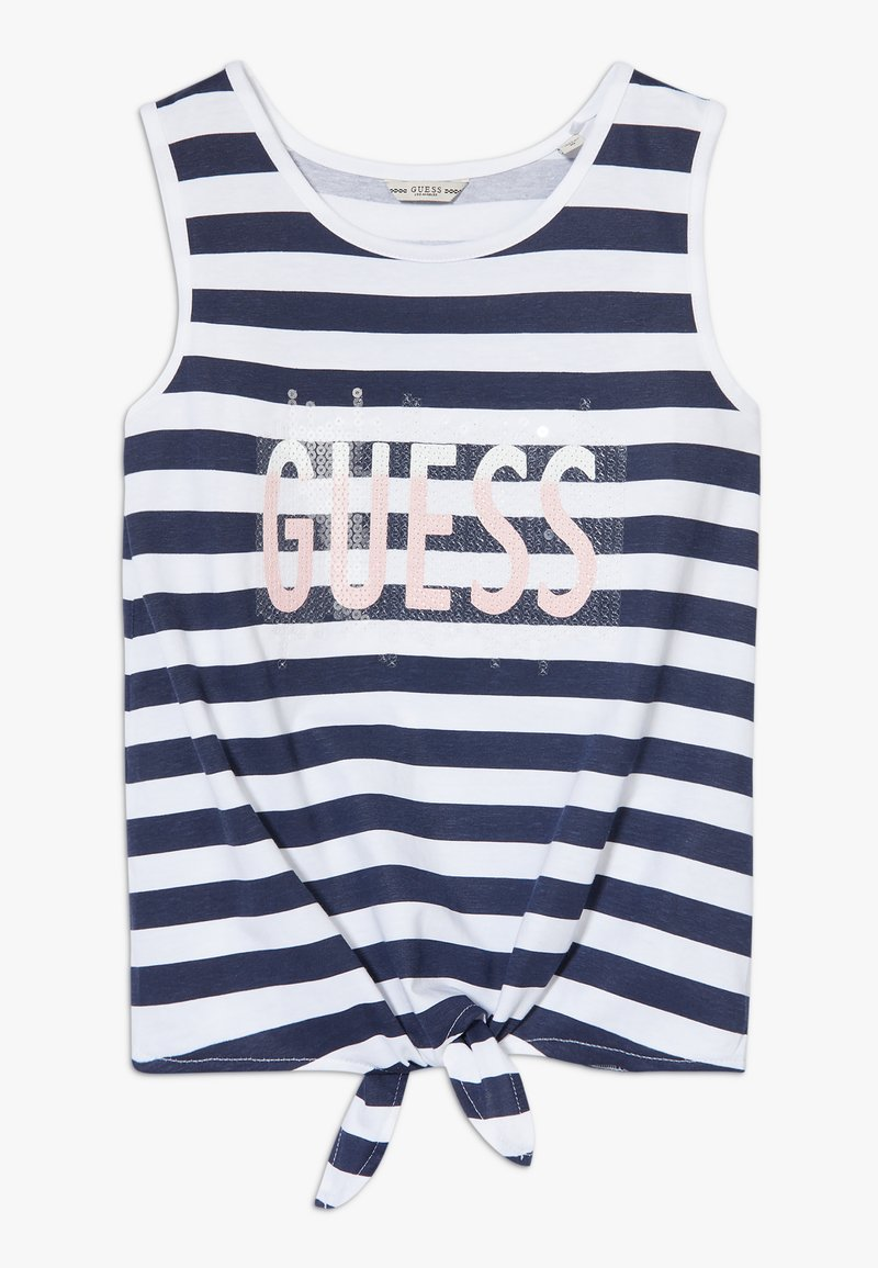 Guess - STRIPES - Top - white and blue strip
