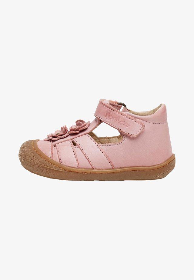 MIT APPLIZIERTEN BLÜMCHE-NAVY - Walking sandals - pink