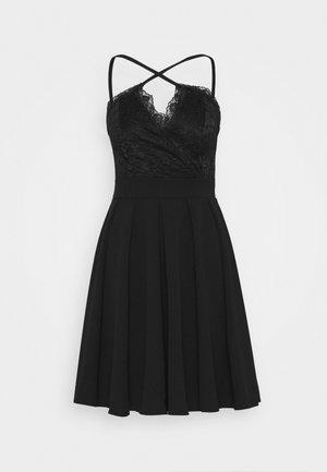 SKATER DRESS - Cocktailkjole - black