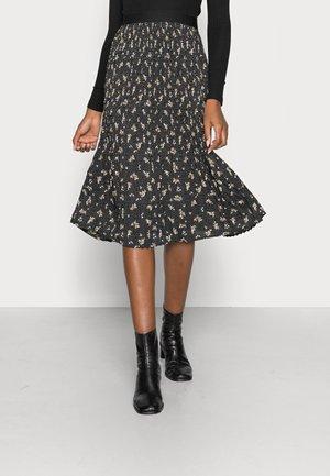FALDA MIDI PLISADA - A-line skirt - black