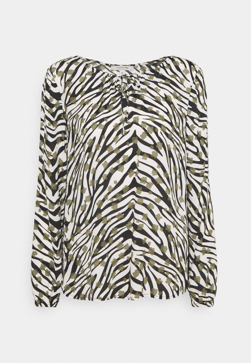 comma casual identity - BLUSE LANGARM - Blouse - zebra