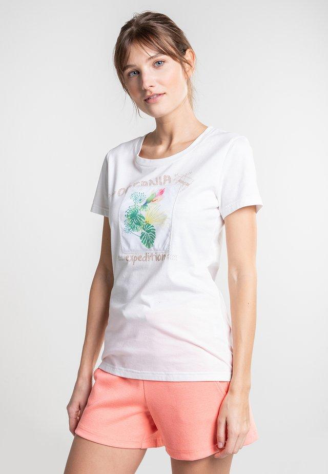 KIRINDA - Print T-shirt - natural white