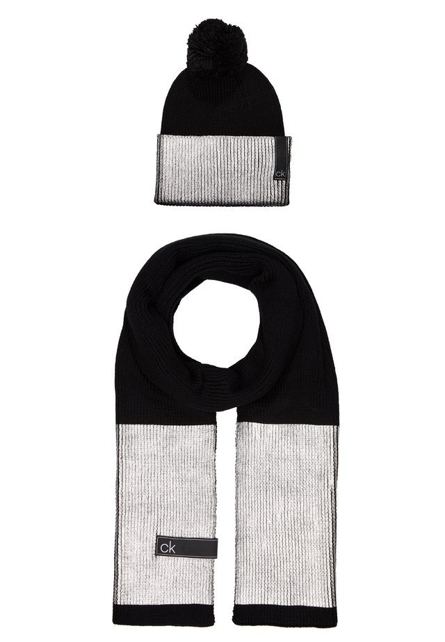 LAMINA GIFTBOX  SCARF BEANIE SET - Huivi - black