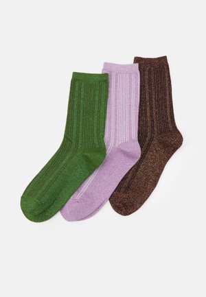 SLF3PACK LANA SOCK 3 PACK - Chaussettes - twist of lime/fair orchid(wine tasting